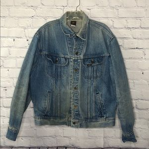 Vintage Lee distressed leather jacket